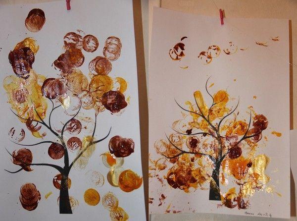 Arbre d'automne en bouchon de liège